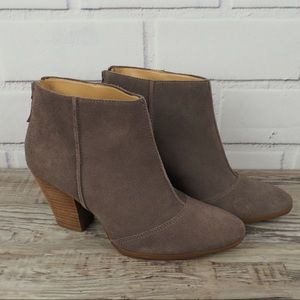 Enzo Angiolini sz 8.5 Gimm taupe suede booties